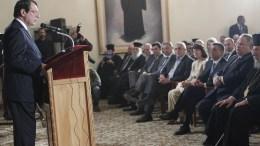 Ο Πρόεδρος της Κυπριακής Δημοκρατίας κ. Νίκος Αναστασιάδης στην εκδήλωση για τις εθνικές επετείους της 25ης Μαρτίου και της 1ης Απριλίου, στο Ιδρυμα Αρχιεπισκόπυ Μακαρίου Γ΄στη Λευκωσία. Φωτογραφία ΧΡ. ΑΒΡΑΑΜΙΔΗΣ