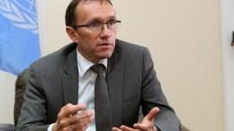 Ο Ειδικός Σύμβουλος του Γ.Γ του ΟΗΕ για την Κύπρο κ. Εσπεν Μπαρθ 'Ειντε. ΚΥΠΕ, ΚΑΤΙΑ ΧΡΙΣΤΟΔΟΥΛΟΥ