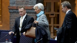 From left to right: Ms Christine LAGARDE, Managing Director of the IMF; Poul THOMSEN, Director of the European Department of the IMF. Copyright, Credit 'The European Union'