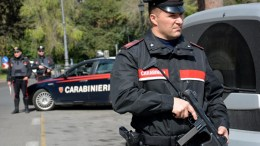 Carabinieri officers on patrol in Italy. FILE PHOTO.  EPA/CLAUDIO PERI