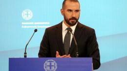Φωτογραφία Αρχείου. Ο υπουργός Επικρατείας και Κυβερνητικός Εκπρόσωπος Δημήτρης Τζανακόπουλος στην  τακτική ενήμέρωση των πολιτικών συντακτών στην Γενική Γραμματεία Ενημέρωσης. ΑΠΕ - ΜΠΕ, Αλέξανδρος Μπελτές