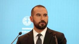 Ο υπουργός Επικρατείας και Κυβερνητικός Εκπρόσωπος Δημήτρης Τζανακόπουλος. ΑΠΕ - ΜΠΕ, Αλέξανδρος Μπελτές