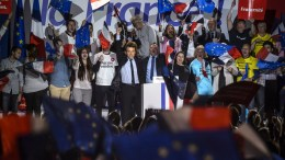 French presidential election candidate for the 'En Marche!' (Onwards!) political movement, Emmanuel Macron. EPA, CHRISTOPHE PETIT TESSON