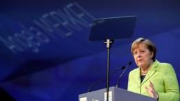 Angela Merkel, Chancellor of Germany speaks during the EPP Summit, in Saint Julians, Malta. EPA, DOMENIC AQUILINA