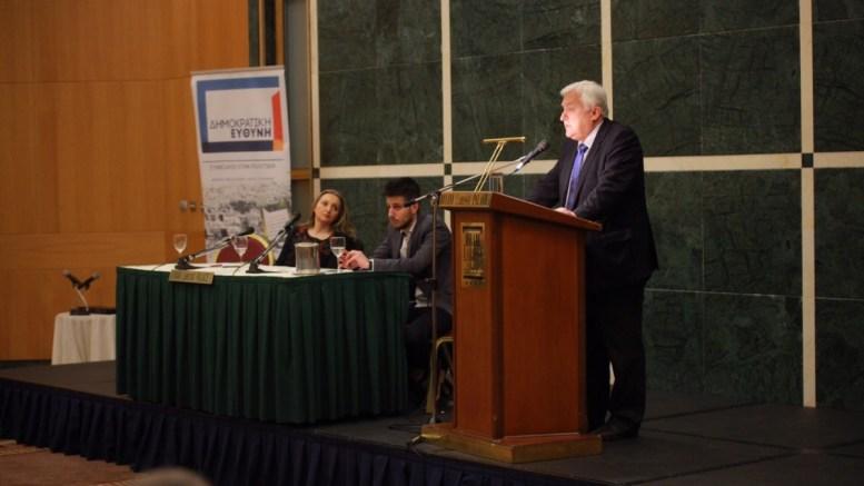 Ο πρώην υπουργός Αλέκος Παπαδόπουλος. Φωτογραφία Δημοκρατική Ευθύνη