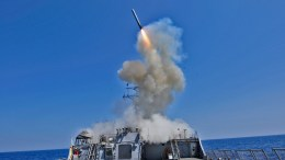 File Photo: The guided missile destroyer USS Barry (DDG 52) launches a Tomahawk cruise missile, from the Mediterranean Sea. DoD photo by Mass Communication Specialist 3rd Class Jonathan Sunderman, U.S. Navy/Released