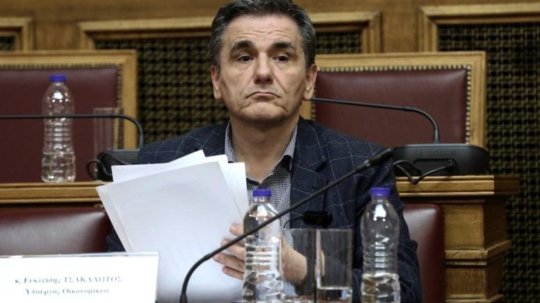 Ο υπουργός Οικονομικών Ευκλείδης Τσακαλώτος στη Βουλή. ΦΩΤΟΓΡΑΦΙΑ ΑΡΧΕΙΟΥ. ΑΠΕ-ΜΠΕ, ΣΥΜΕΛΑ ΠΑΝΤΖΑΡΤΖΗ
