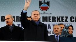 """""""Εμείς ήμασταν που ρίξαμε τους Έλληνες στη θάλασσα"""", λέει ο Ερντογάν στην αντιπολίτευση. EPA/TURKISH PRESIDENT PRESS OFFICE HANDOUT HANDOUT EDITORIAL USE ONLY/NO SALES"""