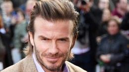 British former soccer player David Beckham poses on the red carpet during the European film premiere of 'King Arthur: Legend of the Sword' at Leicester Square in London, Britain, 10 May 2017.  EPA/ANDY RAIN