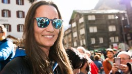 "Philippa Charlotte ""Pippa"" Middleton, English socialite, author, columnist, and the younger sister of Catherine, Duchess of Cambridge, reacts before the 20th edition of the Glacier Patrol race in Zermatt, Switzerland, Tuesday, April 19, 2016. The Glacier Patrol (Patrouille des Glaciers), organized by the Swiss Army, will take place from 19 to 23 April. Highly-experienced hiker-skiers will trek across the Haute Route along the Swiss-Italian border from Zermatt to Verbier. The race covers 53km by foot and ski, which is equivalent to 110km without altitude difference.  EPA/JEAN-CHRISTOPHE BOTT"