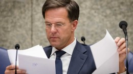 Prime Minister Mark Rutte during a debate in the Senate in The Hague, The Netherlands. FILE PHOTO. EPA/BART MAAT