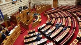 H αίθουσα της Ολομέλειας της Βουλής των Ελλήνων. ΑΠΕ-ΜΠΕ/ΑΠΕ-ΜΠΕ/Αλέξανδρος Μπελτές.