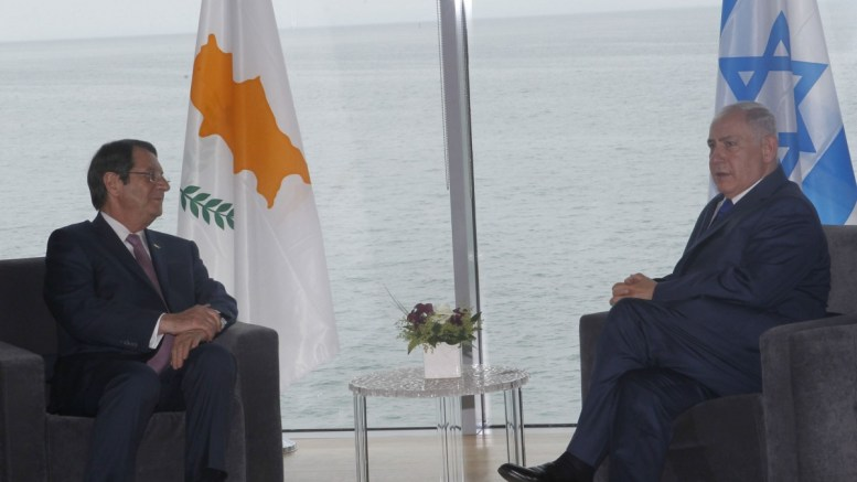 File Photo: Ο Πρόεδρος της Δημοκρατίας Νίκος Αναστασιάδης σε συνάντηση με τον Πρωθυπουργό του Ισραήλ Βενιαμίν Νετανιάχου, στη Θεσσαλονίκη 15 Ιουνίου 2017. Φωτογραφία ΓΤΠ, ΧΡ. ΑΒΡΑΑΜΙΔΗΣ