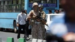 FILE PHOTO. Iranian army soldiers stand on guard.  EPA, HOSSEIN MERSADI
