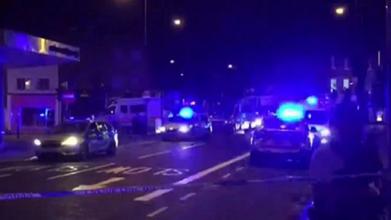 Incident in London happened near a mosque at a time when many Muslims were out because of Ramadan. Photo via Sky News