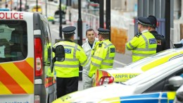FILE PHOTO. Forensic and police officers work on London Bridge a day after the terrorist incident, at Downing Street, in London, Britain. FILE PHOTO.  EPA/SEAN DEMPSEY