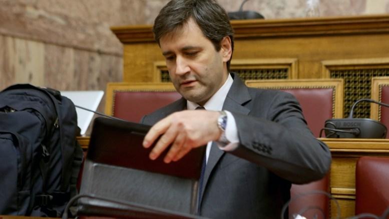 Ο αναπληρωτής υπουργός Οικονομικών, Γεώργιος Χουλιαράκης. ΑΠΕ-ΜΠΕ/Παντελής Σαίτας.