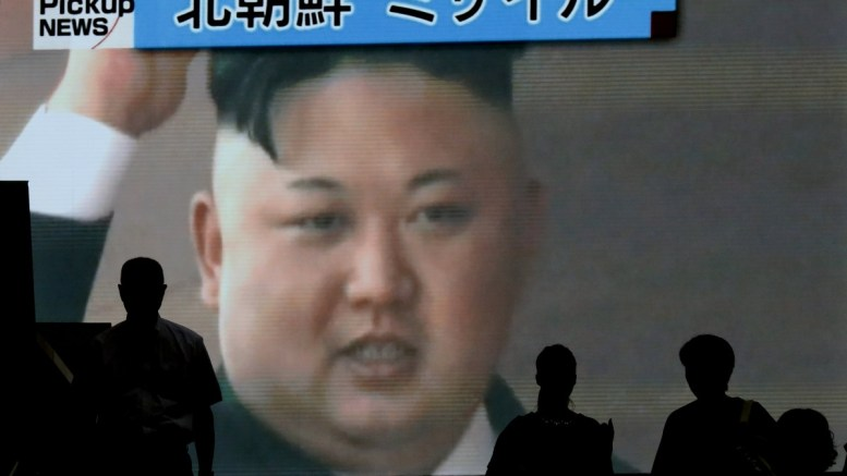 FILE PHOTO. Pedestrians walk past a TV screen showing North Korean leader Kim Jong-un on a street broadcasting news of North Korea's latest missile launch, in Tokyo, Japan, 04 July 2017. According to media reports, North Korea launched a ballistic missile on 04 July, that flew around 930km towards the Sea of Japan. The missile fell into Japan's exclusive economic zone in the Sea of Japan, according to Japanese Chief Cabinet Secretary Yoshihide Suga. North Korea said that it has successfully tested an intercontinental ballistic missile (ICBM). EPA, KIMIMASA MAYAMA