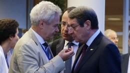 File Photo: O Πρόεδρος της Κυπριακής Δημοκρατίας, με τον Ανδρέα Μαυρογιάννη και τον Νίκο Χριστοδουλίδη. ΚΥΠΕ, ΚΑΤΙΑ ΧΡΙΣΤΟΔΟΥΛΟΥ