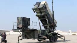 A file photograph showing a Patriot missile system unveiled by the US military. EPA/STRINGER