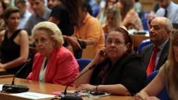 Η Μαρία Παπασπύρου (Δ) , Γενική Επιθεωρήτρια Δημόσιας Διοίκησης, και η τέως πρόεδρος του Αρείου Πάγου Βασιλική Θάνου (Α) στο Φόρουμ για την ενίσχυση της ακεραιότητας στον δημόσιο τομέα. ΑΠΕ-ΜΠΕ, Αλέξανδρος Μπελτές