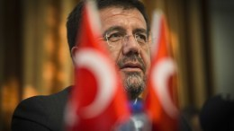 FILE PHOTO. Turkish minister of Economic Affairs Nihat Zeybekci during a press conference at the Turkish Embassy in The Hague, The Netherlands, 23 August 2016 (reissued 10 July 2017). According to media reports on 10 July 2017, the Austrian government has barred Zeybekci from participating in an event marking the coup anniversary on 15 July. EPA/EVERT-JAN DANIELS