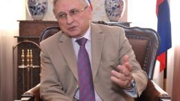 Ο πρέσβης της Ρωσικής Ομοσπονδίας στην Κύπρο, Στάνισλαβ Οσάτσι. Φωτογραφία: ΚΥΠΕ.