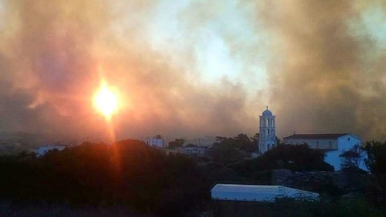 Φωτογραφία Αρχείου από τη μεγάλη πυρκαγιά στα Κύθηρα.  ΑΠΕ-ΜΠΕ, ΜΠΟΥΓΙΩΤΗΣ ΕΥΑΓΓΕΛΟΣ