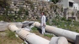 Αυτοψία στα μνημεία που επλήγησαν από τον πρόσφατο σεισμό διενήργησε η υπουργός Πολιτισμού, Λυδία Κονιόρδου, η οποία πραγματοποίησε σήμερα επίσκεψη στην Κω. Φωτογραφία: www.kosnews24.gr