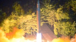 A photo made available by the North Korean Central News Agency (KCNA), the state news agency of North Korea, shows the second test-fire of ICBM Hwasong-14. EPA, KCNA EDITORIAL USE ONLY