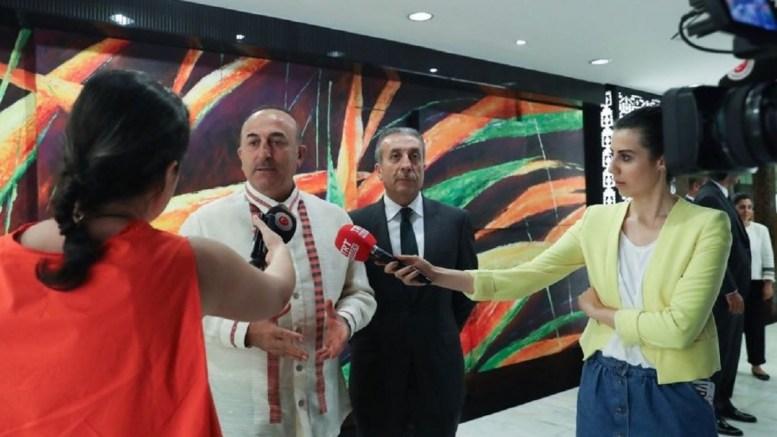 Turkish Foreign Minister Mevlut Cavusoglu. PHOTO via Twitter, @MevlutCavusoglu