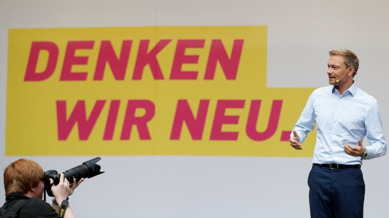 Christian Lindner, Chairman of the German Free Democratic Party (FDP) attends a FDP election campaign event in Duesseldorf, Germany, 23 September 2017. Lindner is on election campaign tour for the general elections which are scheduled to be held on 24 September. EPA, FRIEDEMANN VOGEL