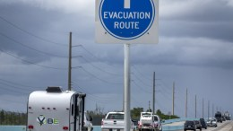 Motorists evacuate the Florida Keys passing through Key Largo, Florida, USA, 06 September 2017. Florida governor Rick Scott has issued a state of emergency as Hurricane is expected to affect Florida on 09 September. Monroe County has issued a mandatory evacuations for visitors and residents of Key West Florida. EPA, CRISTOBAL HERRERA