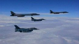 Αμερικανικά αεροπλάνα πάνω από τις ακτές της Βορείου Κορέας. Φωτογραφία EPA, ΑΠΕ-ΜΠΕ
