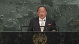 Ri Yong Ho, Minister for Foreign Affairs of the Democratic People's Republic of Korea, addresses the general debate of the General Assembly's seventy-second session. UN Photo, Cia Pak