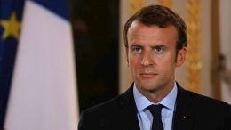 Ο Γάλλος πρόεδρος Εμμανουέλ Μακρόν .  EPA/LUDOVIC MARIN / POOL MAXPPP OUT