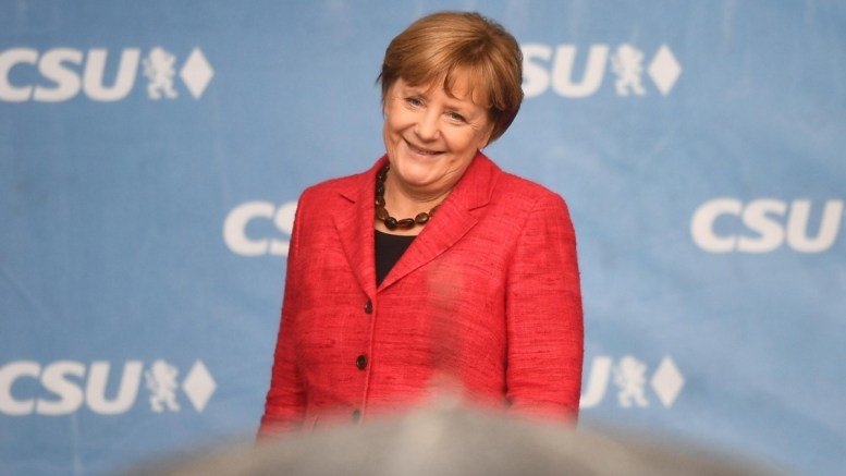 File Photo: German Chancellor Angela Merkel smiles at the closing of a campaigning event of Bavarian Christian Social Union (CSU) in Rosenheim, Germany, 12 September 2017. EPA, CHRISTIAN BRUNA