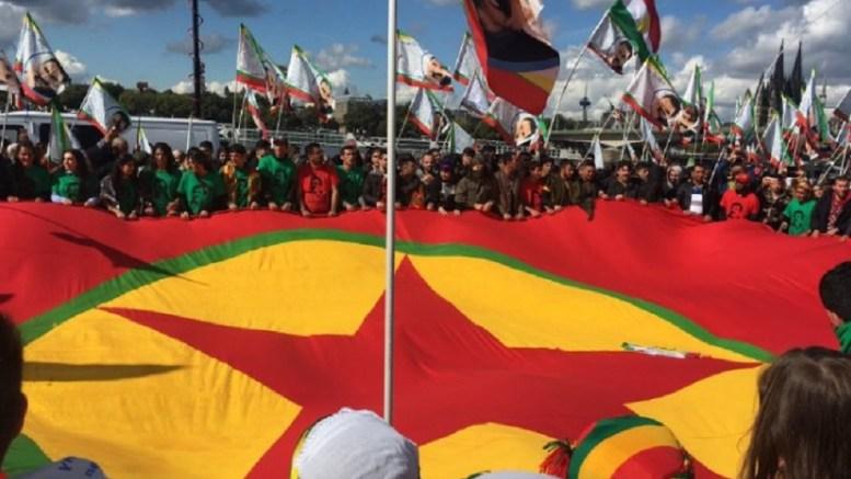 Η διαδήλωση των Κούρδων στην Κολωνία εξόργισε τον Ταγίπ Ερντογάν. Φωτογραφία via Twitter