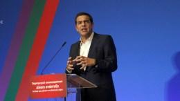 Ο πρωθυπουργός Αλέξης Τσίπρας μιλάει  στο 3ο περιφερειακό συνέδριο για την παραγωγική ανασυγκρότηση «Επενδύοντας στην Κρήτη», την Πέμπτη 21 Σεπτεμβρίου 2017,  στο Κινηματοθέατρο Αστόρια Ηρακλείου.   ΑΠΕ-ΜΠΕ, ΝΙΚΟΣ ΧΑΛΚΙΑΔΑΚΗΣ