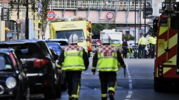 FILE PHOTO. Emergency services gather close to the 'Parsons Green' Underground Station in London, Britain, 15 September 2017. Emergency services have responded to reports of an explosion on an underground tube train. EPA/WILL OLIVER