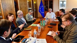 President of the European Commission Jean-Claude Juncker with journalists. ANA-MPA