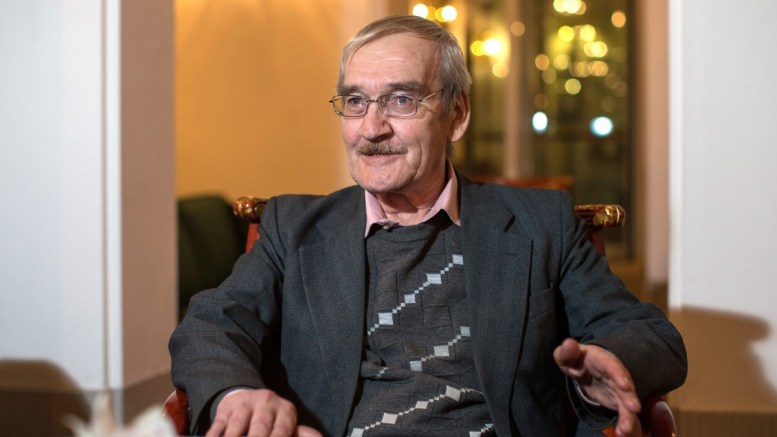 FILE PHOTO. Stanislav Petrov, retired Soviet Lieutenant-Colonel, speaks during an interview. EPA/OLIVER KILLIG