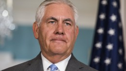 US Secretary of State Rex Tillerson at the State Department in Washington, DC, USA EPA, JIM LO SCALZO