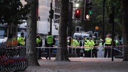File Photo: Police stand guard next to the Natural History Museum in South Kensington, London, Britain, 07 October 2017. A man has been arrested after several pedestrians have been injured after a car mounted the pavement near the Natural History museum. EPA, FACUNDO ARRIZABALAGA