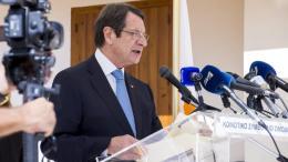 Ο πρόεδρος της Κύπρου Νίκος Αναστασιάδης. Φωτογραφία ΚΥΠΕ.