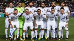 Greece's starting eleven poses for photographers before the FIFA World Cup 2018 qualifying Group H soccer match between Cyprus and Greece at GSP Stadium in Nicosia, Cyprus, 07 October 2017. EPA/STRINGER