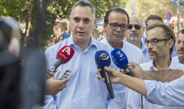 Ο υποψήφιος πρόεδρος της Κύπρου Νικόλας Παπαδόπουλος. Φωτογραφία ΚΥΠΕ.