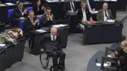 FILE PHOTO. The newly-elected President of the German Parliament, former Finance Minister Wolfgang Schaeuble. EPA/CLEMENS BILAN