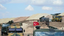 PHOTO FILE: Turkish military vehicles as they arrive to Syria, EPA,TURKISH GENERAL STAFF PRESS OFFICE HANDOUT  HANDOUT EDITORIAL USE ONLY