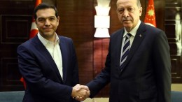 Ο Αλέξης Τσίπρας με τον Ταγίπ Ερντογάν. Φωτογραφία τιουρκική προεδρία.